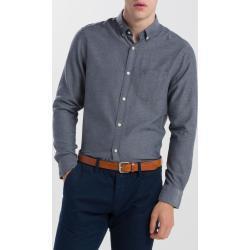 Pánské Košile Gant v černé barvě s dlouhým rukávem s button-down límcem