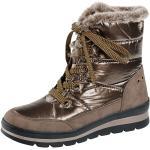 Dámské Zimní kotníkové boty Caprice v béžové barvě s výškou podpatku 3 cm - 5 cm na zimu