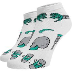 Dámské Kotníkové ponožky v bílé barvě v moderním stylu