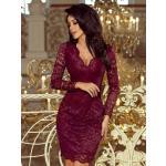Krajkové dámské šaty 170-5 bordo