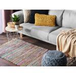 Krátkovlasý světlý barevný bavlněný koberec 80x150 cm - DANCA