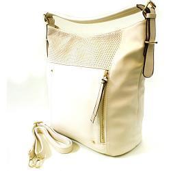 Krémová moderní kabelka na rameno Aksha Tapple