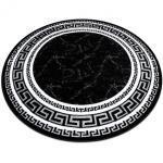 Kulatý koberec GLOSS moderni 2813 87 stylový, rám, řecký černý kruh 150 cm