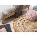 Kulatý koberec z juty ø 140 cm béžový LALELI
