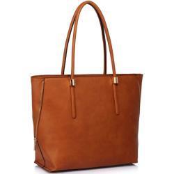 L&S Kožená taška přes taška přes rameno - hnědá LS-LS00494_BROWN