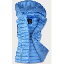 Libland Světle modrá prošívaná lesklá dámská vesta (7000) modrá XXL (44)
