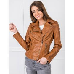 Light brown eco leather jacket