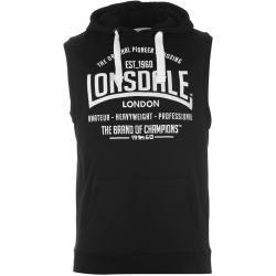 Lonsdale Lonsdale Box bez rukávů mikina s kapucí pánské, Black - 4XL / Black SD63224703