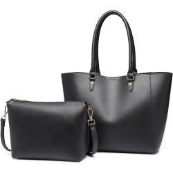 Lulu Bags (Anglie) Praktický černý dámský kabelkový set 2v1 Miss Lulu