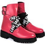 Dámské Kotníčkové boty na podpatku v červené barvě na zimu