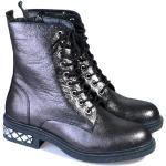 Dámské Kotníkové boty ve stříbrné barvě