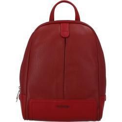 Městský koženkový batoh Sandras rucksack, červený