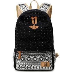 Městský studentský batoh Canvas TopBags Paterrn - Black 17 l