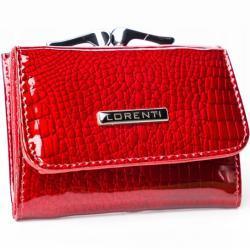 Malá praktická kožená peněženka Fren, červená