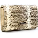 Menší kožená peněženka se vzorem hadí kůže, zlatá