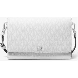 Michael Kors Logo and Leather Convertible Crossbody Bag Bright White