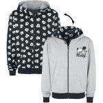 Pánské Oblečení v šedé barvě s motivem Mickey Mouse a přátelé s motivem myš plus size