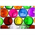 MISDA Obraz na plátně – barevná dna lahví