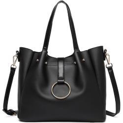 MISS LULU Černá kabelka 2-IN-1 Soft