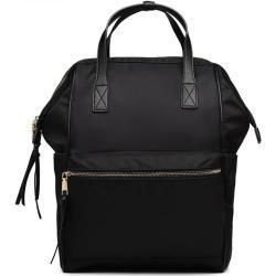 MISS LULU Voděodolná školní taška, objem , barva černá, městský, studenstký, batoh na notebook