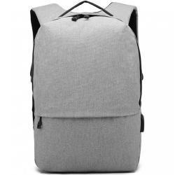 MISS LULU Voděodolný batoh s nabíjením přes USB, objem , barva šedá