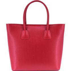 Moderní dámská kožená kabelka Arteddy - červená