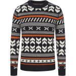 Nadměrná velikost: Jack & Jones, Pletený svetr s rustikálním vzorem ČernÁ für Herren