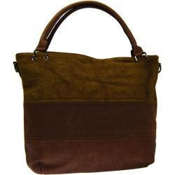 NEW BERRY Kávově hnědá dámská kabelka s pruhy AE-0903 New Berry