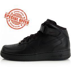 Nike WMNS Air Force 1 Mid '07 LE Black Black 366731-001
