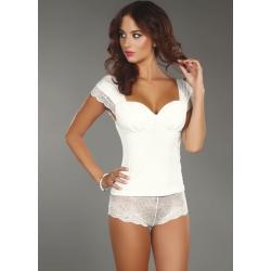 Noční košilka Ingrid bílá