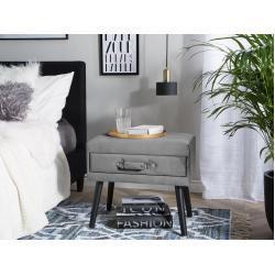 Noční stolek šedý samet EUROSTAR