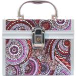 NORMA MAT My Glam Merlot CASE Kosmetický kufr vínový látkový vzor VOR3