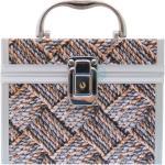 NORMA NODE Old Beauty Medium CASE Kosmetický kufr hnědo černý pletený vzor SPL1