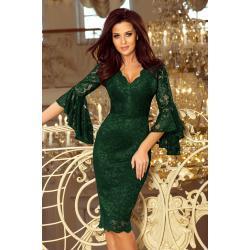 Dámské Šaty Numoco v tmavě zelené barvě v elegantním stylu ve velikosti XXL