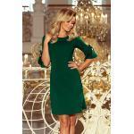 numoco Dámské šaty 217-2 zelená S