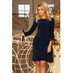 numoco Dámské tmavě modré šaty s mašlemi model 6321775 S