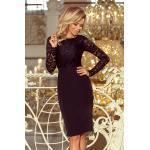 numoco Elegantní černé dámské tužkové šaty s krajkou model 6361555 S