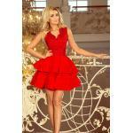numoco Exkluzivní červené dámské šaty s krajkovým výstřihem model 5962454 L