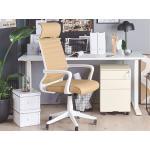 Ocelová krémová kancelářská skříňka CAMI