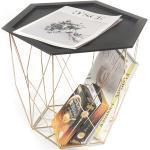 Odkládací stolek BELOR černá / zlatá Tempo Kondela