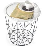 Odkládací stolek SALERO bílá / černá Tempo Kondela