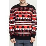 Pánská mikina // Pánský svetr // Urban Classics Snowflake Christmas Tree Sweater black/fire red/white - XXL