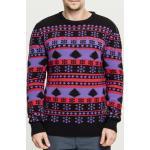 Pánská mikina // Pánský svetr // Urban Classics Snowflake Christmas Tree Sweater ultraviolet/black/firered - S