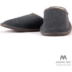 Pánské kožené pantofle modré Model X