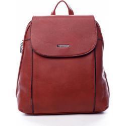 Pohodlný dámský městský koženkový batůžek Sinkop červená