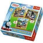 Puzzle Trefl 3v1 Mašinka Tomáš: Do akce 20 36 50 dílků