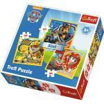 Puzzle TREFL Tlapková patrola: Marshall Rubble a Chase 3v1 20,36,50 dílků