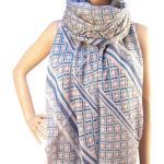 RAYFLECTOR Šátek s barevnými motivy - Modrý