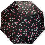 Real Star Umbrella® Mini skládací deštník s květinami - černá