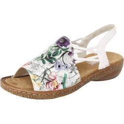 RIEKER Sandály mix barev / stříbrná / bílá